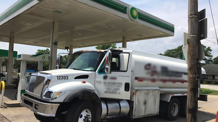 fuel tank driver overdoses at gas station