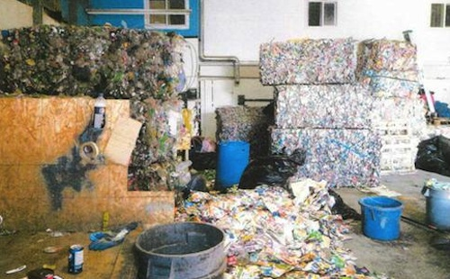recyclables are brought to secret storage locations