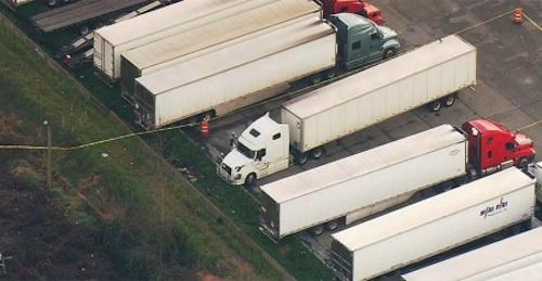 police investigate truck stop stabbing