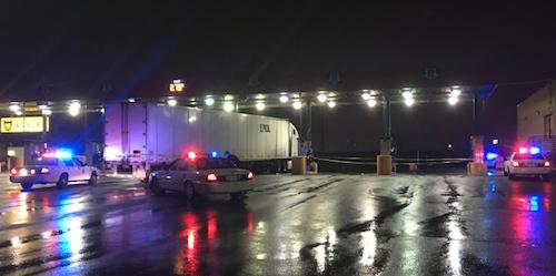 truck driver shot