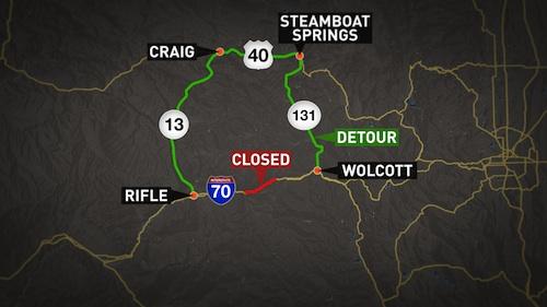 I-70 detours