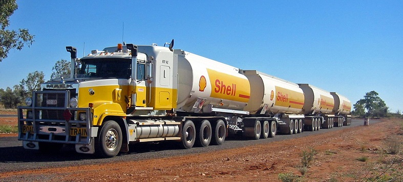 Gas-related products delivered by a triple truck