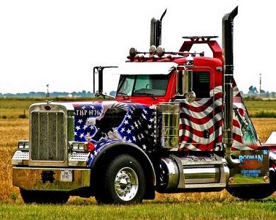 Patriotic Semi Truck
