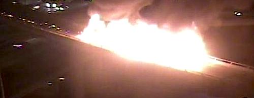 log truck fire