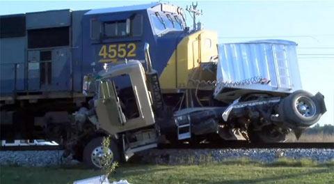 Train Truck Wreckage