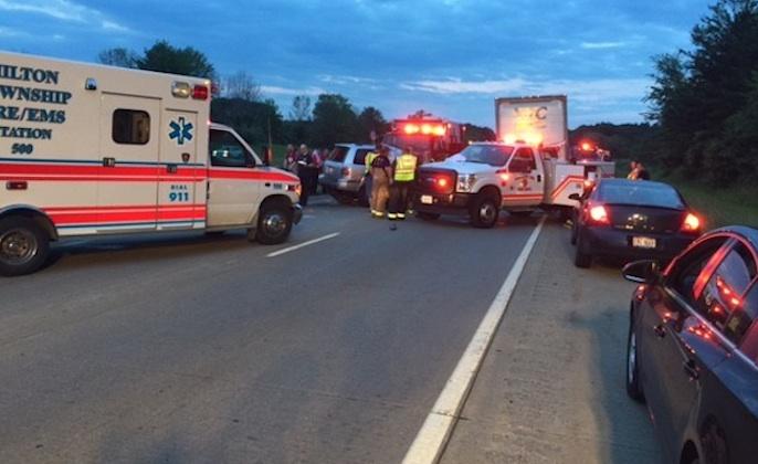 three accidents on I-76 in Ohio