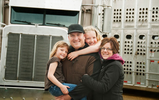 A local trucker and his family