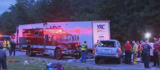 I-76 chain reaction crash