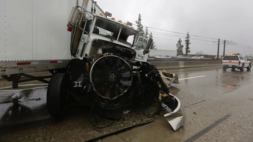 semi crash on 210 freeway