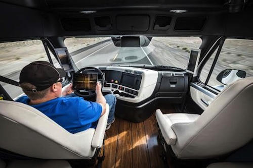 inside self driving semi