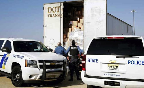 Police seize drugs from trucks