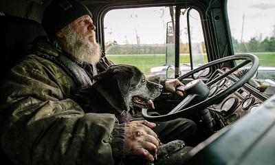 Elderly Truck Driver
